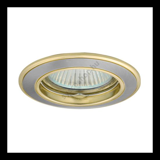 Lámpatest álmennyezetbe illeszhető alu MR16 keret BASK fix kétszínű szaténnikkel / arany CTC-5514 Kanlux - 2813