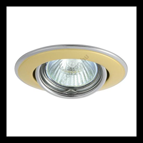 Lámpatest álmennyezetbe illeszhető MR16 keret HORN billenő kétszínű gyöngyházarany / nikkel CTC-3115 Kanlux - 2833
