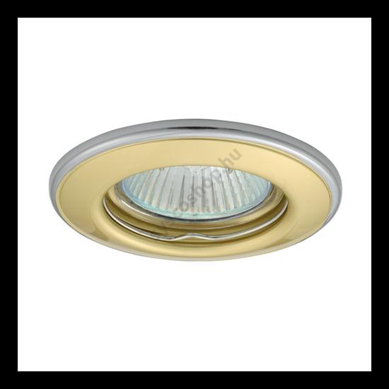 Lámpatest álmennyezetbe illeszhető MR16 keret HORN fix kétszínű gyöngyházarany / nikkel CTC-3114 Kanlux - 2823