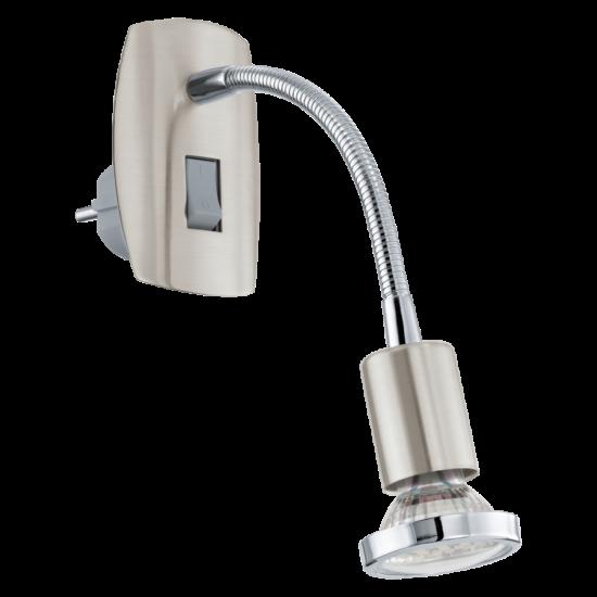LED-es dugaljszpot 3W acél/króm/matt nikkel 7x18cm flexibilis Mini 4 EGLO - 92933
