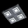Kép 1/2 - LED-es mennyezeti lámpa 4x3,3W 3000K 1360lm fekete Masiano 1 - Eglo - 99364