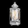 Kép 1/2 - Asztali lámpa E27 60W ezüst-antik/üveg Vintage EGLO - 49284