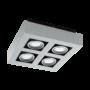 Kép 1/2 - LED-es fali/mennyezeti lámpa GU10 4x5W csiszolt alu Loke 1 EGLO - 91355