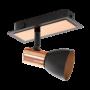 Kép 1/2 - LED-es fali lámpa GU10 1x3,3W fekete/réz Barnham EGLO - 94584