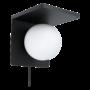 Kép 1/2 - Fali lámpa E14 max.40W fekete/fehér Qi töltős Ciglie - Eglo - 98265
